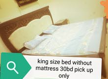 king size bed without mattress