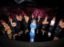 مجسم للفنانة  ام كلثوم والفرقه كامله من الفخار الأصلي عدد القطع 10  للبيع ل أفضل