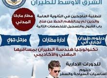 دبلومات تدريبية في مجال الطيران / اكاديمية الشرق الأوسط للطيران بالتعاون مع اكاديمية بيت الشرق
