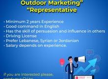 Outdoor Marketing Representative