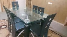 طاولة سفرة زجاج