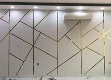 تركيب ورق جدران بسعر رخيص أفضل فني صباغ  معلم دهان لتنفيذ و بديل الرخام و باركية