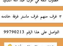 مطلوب شقه لي الايجار في غرب عبد الله المبارك