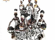 7 قطع، منحوتات أفريقيا مصنوعة يدوياََ