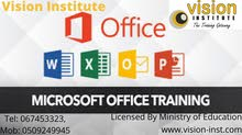 MS OFFICE  TRAINING CLASS AT VISION INSTITUTE CALL -