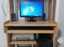 كمبيوتر + شاشة + مكتب Desktop Computer + screen + desk