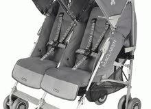 عربة اطفال للتوأم ماركة عالمية وحالة ممتازة
