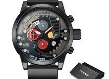 Sinobi top brand توقيت الساعات الرياضية للماء ووتش العسكرية الرجال ووتش جلدية أز