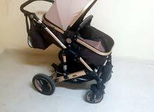 عربة اطفال مختلف مستويات مع كرسي سيارة و شنطه