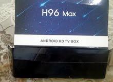 تي في بوكس h96 max plus الذاكره 64 جيجا والرام 4 جيجا للبيع او البدل