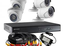 تركيب كاميرات مراقبة و ربطها بالنت و صيانة