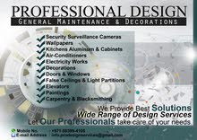 Professional Design - General Maintenance and Decorations Services