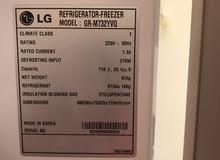ثلاجة LG بحالة ممتازة للبيع بحالة الوكالة بسعر مميز