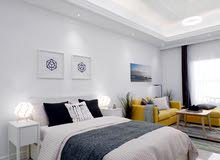 شقة غرفة وصالة بارجان دبي اعلي مواصفات التشطيب مع مطبخ مجهز بدفعات ميسرة
