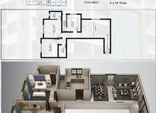 flat 2 bedrooms for sale area 103 m in AL QURUM