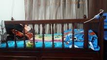 سرير اطفال نظيف صاج اصلي