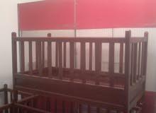 سرير و حباس خشب جديد