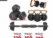 Kettlebells / Adjustable Dumbbells / Barbell / Push Ups Shelf Weights Set 10,15,20 kgs