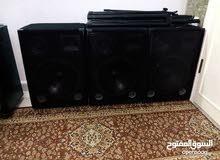 اجهزة صوت حفلات كاملة 3سماعات مونتاربو ايطالي 15انش 3ويه وجهاز بور الف واط ومكسر
