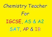 مدرّس كيمياء .. للبرامج الدولية ( IGCSE / SAT / IB )
