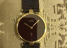 ساعة Cartier القديمه عنابيه