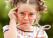 نظارات اطفال لشرب العصير