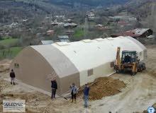 عنوان Quality Tent ، Güleçyüz 10x40 Scissor Animal Shelter.