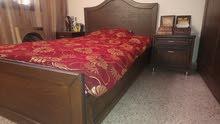 غرفة نوم خشب زان تقيلة (شغل تكعيب + زرفيل)