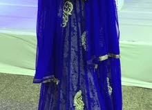 Royal blue gown with cancan inside