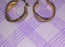 حلق وخاتم صيني مطلي بماء الذهب