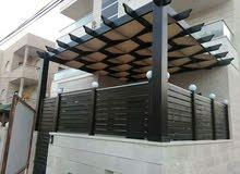 شاليه 120 مع مسبح 10×5 مع قعدات برقول وقرميد وباربيكو مع زراعه اشجار