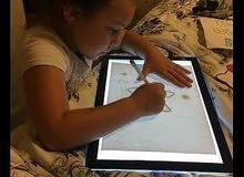 سبورة لوحة مضيئة وسيلة تعليم وترفيه رسم ونقش وكتابة