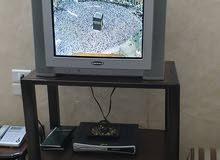 تلفزيون مستعمل+طاولة تلفزيون+رسيفر