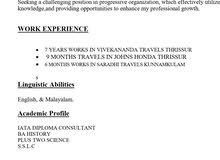 IATA deploma holder looking for a job