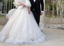 فستان زفاف بحالة الجديد زيرو .. استعمال مرة وحدة فقط