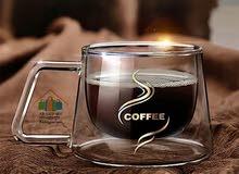 Tasse à café en verre à double parois