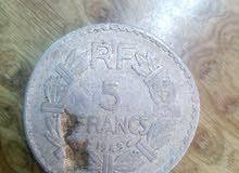 5 francs من  1949 عمله نادره