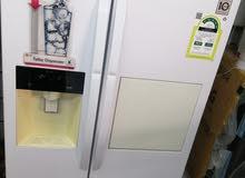 ثلاجة LG 18قدم ابيض بنظام آيس ميكر لون ابيض (مخفضة)