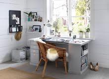 Ikea KLIMPEN - ايكيا وحدة أدراج - لي طاولة PC