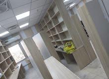 مكتبات خشب نوع mdf