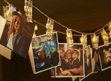 حبل مضيء مع صورك او صور من اختيارك... 10 صور فقط 5 دنانير + الحبل المضي