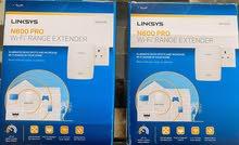 Linksys N600 Dual-Band Range Extender (2 pieces) in Original Packaging