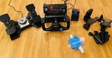 Saitek Flight Yoke +  Throttle Quadrant + Switch Panel + Rudder Pedals