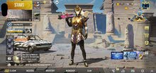pubg account trendy pharaoh x suits want to sell in cheap price 6000AED