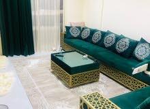 غرفتين وصاله مفروشه للايجار الشهري في عجمان الجرف بجوار نستو والسفير ماركت