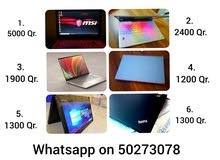 Some office used laptops for sell   1. Msi Mega graphics i7 high end 6gb Nvidia