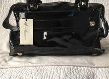 Blumarine Black patent shoulder bag
