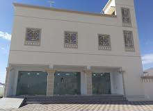 للبيع بناية جديد في نزوى حي السلام تتكون من شقة و 3 محلات