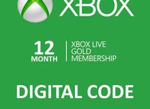 Xbox Live Gold 12 Months Code