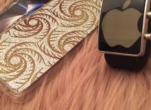 ساعة ايفون اصلية و3كفرات ايفون 6 للبيع
